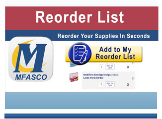 Reorder List - reorder your first and supplies in seconds