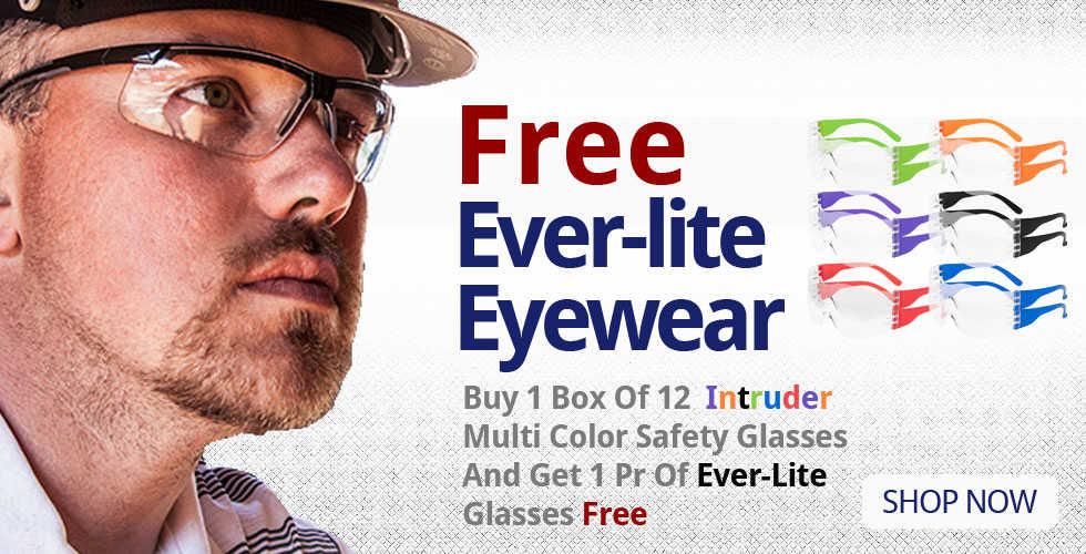 Intruder Ever-Lite Safety Eyewear Free Goods Offer