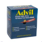 Advil Ibuprofen Pain Relief Tablets 100/box