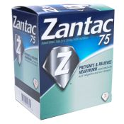 Zantac 75 Acid Reducer 1 tablet per package 25/bx
