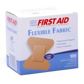 Bandage Fabric Fingertip Small White Cross Brand 100/box
