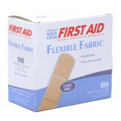 Bandage Flexible Fabric White Cross Brand 1x3 100/box