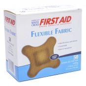 Bandages 4 Wing Fabric White Cross 3x3 50/box