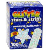Kids Assorted Glitter Adhesive Bandages 100/box