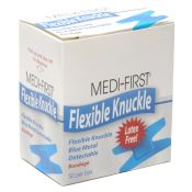 Medique Blue Metal Detectable Woven Knuckle Bandages 50/box