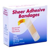Value Sheer Plastic Adhesive Bandages 3/4 X 3 100/box