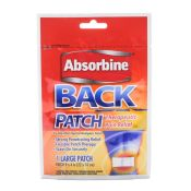 Back Patch Absorbine Pain Relief 9x4 Patch Each