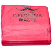 Biohazard Disposal Bags 31'' X 43'' 25/pkg