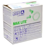 Max Lite Green Earplugs  With Cord 100 Pair/box