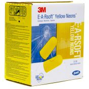 Ear Soft Yellow Neon Ear Plugs No Cord 200/box