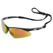 PMXtreme Safety Glass Black Frame Ice Orange Lens Each