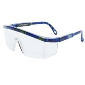 Integra Safety Glass by Pyramex Mixed Blue Frame Clear
