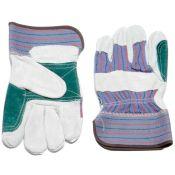 Double Leather Palm Work Gloves Dozen