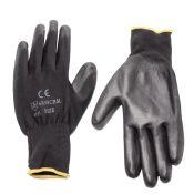 Work Glove Pu Coated Black Dozen