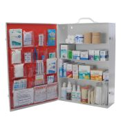 OSHA First Aid Kit 4 Shelf Labeled No Meds