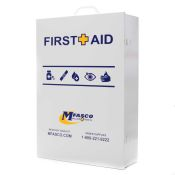 First Aid Box Empty 4 Shelf W/Logo