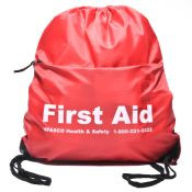 Backpack First Aid Kit Red with Drawstring