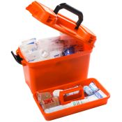 Sports First Aid Kit In Orange Medical Box Large