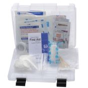 First Aid Kit Home or Auto in Compact Storage Box