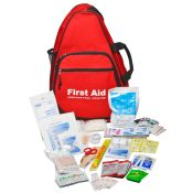 Outdoor First Aid Kit Packed In Deluxe First Aid Sling Bag
