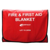 Emergency Fire Blanket Kit with Case and Fire Retardent Blanket