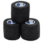 Cohesive Elastic Wrap Sensiwrap Black 2 Inch (3 Rls/Pk)