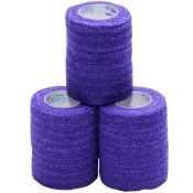 Coflex Elastic Compression Wrap Purple 3~ 3/pkg Latex Free