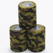 Coflex Latex Free Elastic Wrap Green Camoflauge 3~ 3/pkg