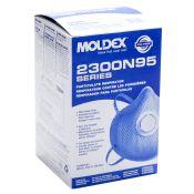 Moldex #2300 N95 Disposable Dust Mist Respirator With Valve 10/box