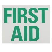 Sign Label First Aid 8x10 Each