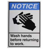Sign Label Visual Hand Wash 14x10