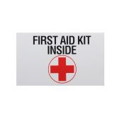 Sign Label First Aid Kit Inside 3x5