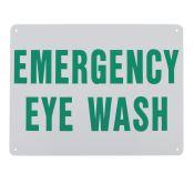 Sign Emergency Eye Wash Plastic 9x12