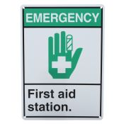 Sign First Aid Visual 10x14 Plastic