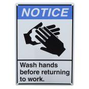Sign Visual Hand Washing Plastic 10x14