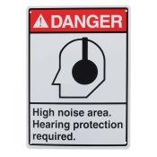 Sign Visual Hearing Protection 14x10
