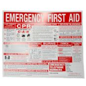 First Aid Employee Informational Wall Chart Poster 22'' X 26