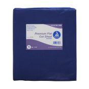 Cot Sheet Flat Dark Blue 40x72 Each