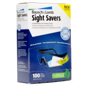 Sight Savers Premoistened Safety Glass Cleaner Wipes 100/box