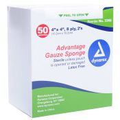 Surgical Gauze Sponge 4 X 4 Sterile 50 Packets Of 2