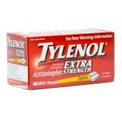 Tylenol Extra Strength Pain Relief Caplets 100/bottle