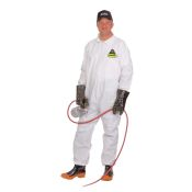 Protective Disposable Coveralls Defender Brand White No Hood or Boot