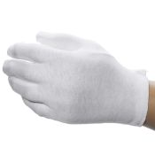 White Cotton Dermatological Gloves (12pr/Pk)