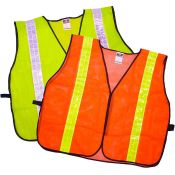 Deluxe Safety Vest 2'' Tape Fluorescent