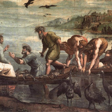 V a   raphael  the miraculous draught of fishes  1515