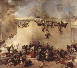 Francesco hayez the destruction of the temple of jerusalem 1867