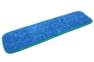 20'' x 5.5'' Microfiber Wet Mop Pad with Green Edge Stitching
