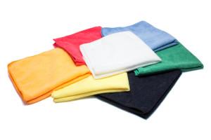 Lightweight Economy Microfiber Towel 16''x16'' 200gsm