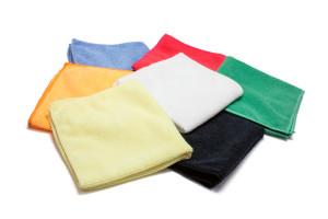 Lightweight Economy Microfiber Towel 12''x12''   200gsm