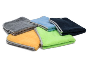 Elite Microfiber Detailing Towel with MicroEdge Banding - 16''x16''